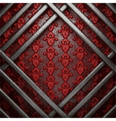 Metal on red background vector