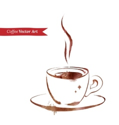 A cup of espresso vector
