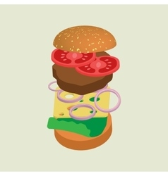 Hamburger or cheeseburger vector