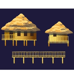 Bungalows set vector