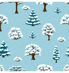Winter seamless pattern with abstract stylized vector