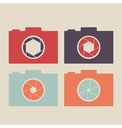 Set of camera icon vector