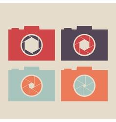 Set of camera icon vector image