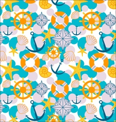 Sailor cartoon pattern vector
