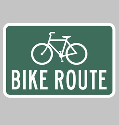 Bike route sign vector