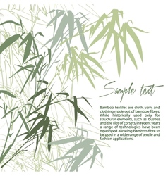 Bamboo floral background with copy space vector