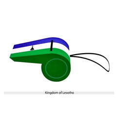 A Whistle of The Kingdom of Lesotho vector image vector image