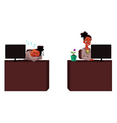 black african businesswoman secretary working vector image vector image