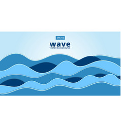 blue ocean sea wave background vector image vector image