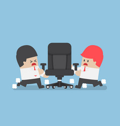 businessmen fighting for ceo chair vector image vector image