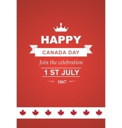 card for Canada Day vector image