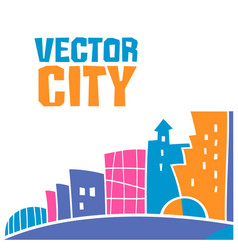 city banner vector image