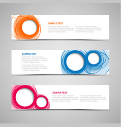 collection banners with colorful abstract circles vector image