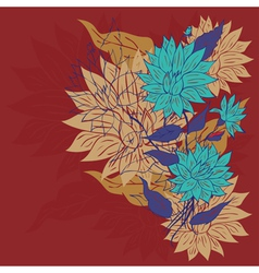 Colorful Flower Ornament5 vector image vector image
