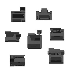 Dark printer icons vector