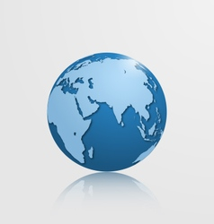 Detailed globe with eurasia and africa vector