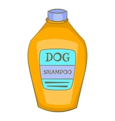 Dog shampoo icon cartoon style vector