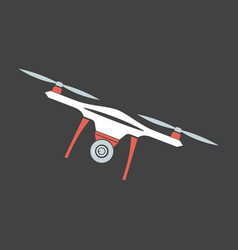 drone with camera modern flying copters with vector image