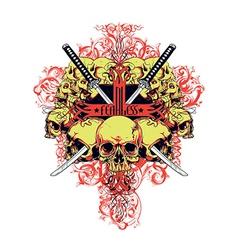 Fearless skulls vector image vector image