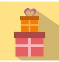 Gifts flat icon vector image