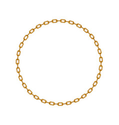 Golden chain in shape of circle vector