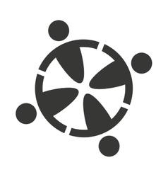 human figure group teamwork icon vector image