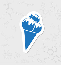 Ice-cream icon vector