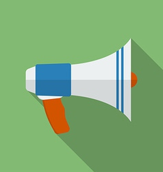 Icon of megaphone flat style vector