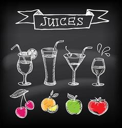 Juice posterbanner vector image vector image
