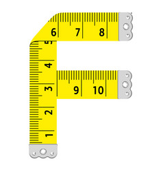 Letter f ruler icon cartoon style vector
