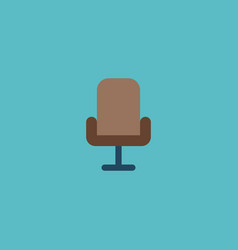 office chair icon flat element vector image