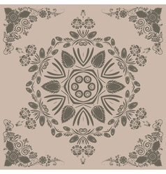 pattern with floral ornament vector image