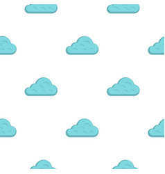 Rainy cloud pattern flat vector