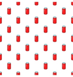 Red aluminum can pattern cartoon style vector image
