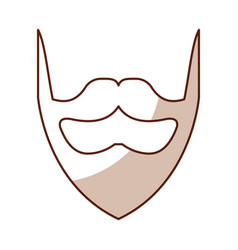 Shadow vintage beard cartoon vector