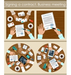 Signing a contract vector