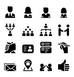 social media social network icon set vector image vector image