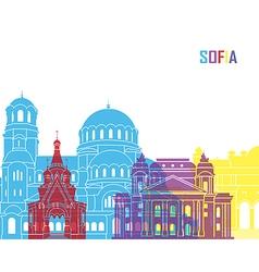 Sofia skyline pop vector
