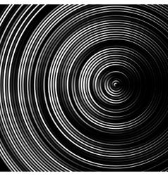 Spiral concentric lines circular rotating vector image