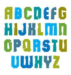 stylish brush uppercase letters handwritten vector image