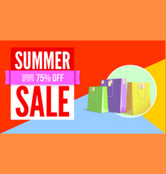 summer sale flat design poster selling ad banner vector image