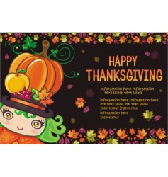 thanksgiving greeting card vector image vector image