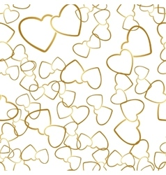 Two Hearts Seamless Pattern Romantic Wrapping vector image vector image