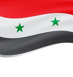 Waving flag of Syria isolated on white vector image vector image