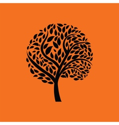 Ecological tree leaves icon vector