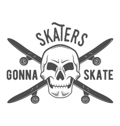 Vintage biking and skating badge logotype vector