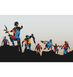 Paintball soldiers vector image