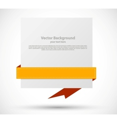 Banner with orange ribbon vector