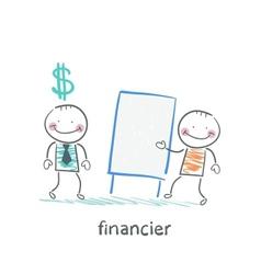 financier hears a presentation from a man vector image