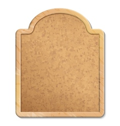 Cork board with wood frame vector